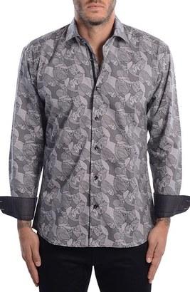 Men's Bertigo Abstract Paisley Modern Fit Sport Shirt $149 thestylecure.com