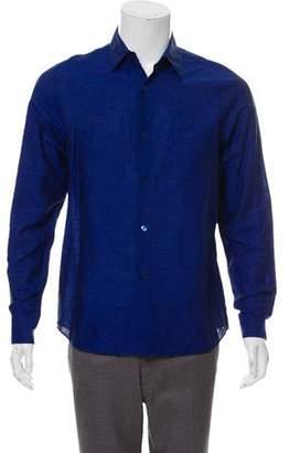 agnès b. Linen Long-Sleeve Dress Shirt