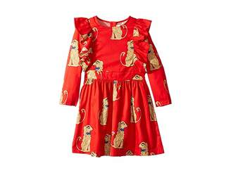 Mini Rodini Spaniels Woven Ruffled Dress (Infant/Toddler/Little Kids/Big Kids)