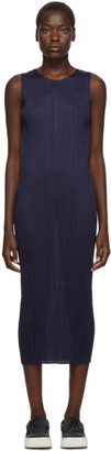 Pleats Please Issey Miyake Navy New Colorful Basics Tank Dress