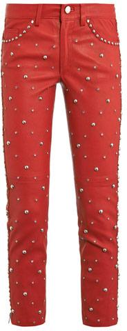 Isabel Marant Duncan embellished leather trousers