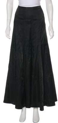 Victor Costa Flared Maxi Skirt