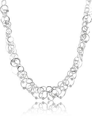 Orlando Orlandini Scintille Anniversary - Diamond 18K White Gold Chain Necklace