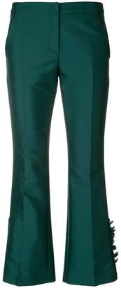 No.21 ruffle detail cropped trousers