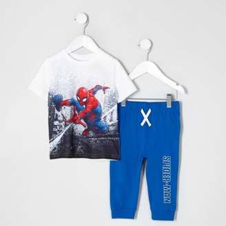 River Island Mini boys blue Spider-Man pajama set