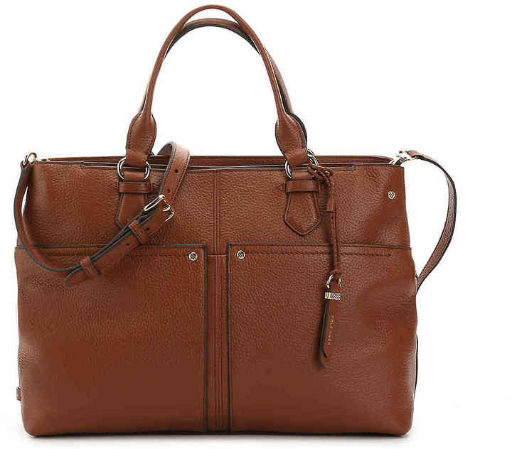 Cole Haan  Women's Ilianna Leather Satchel -Cognac