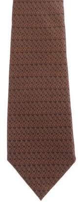 Hermes Silk Horsebit Print Tie
