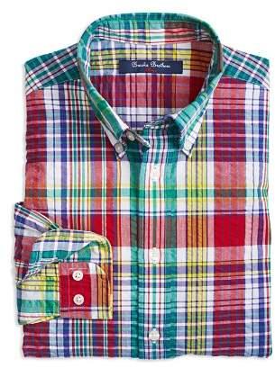 Brooks Brothers Boys' Madras Sport Shirt - Little Kid, Big Kid