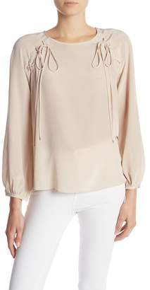 Amanda Uprichard Danbury Long Sleeve Blouse
