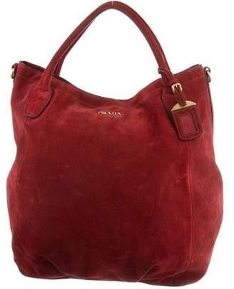 Prada Suede Hobo Bag