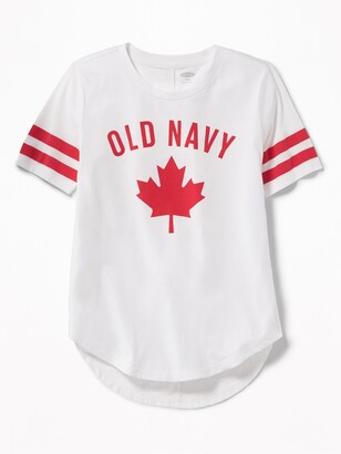 Old Navy Logo Maple-Leaf Tunic Tee for Girls