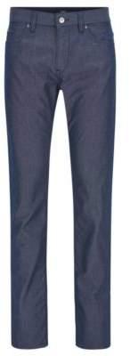 BOSS Hugo Basketweave Cotton Pant, Slim Fit Delaware 38/34 Dark Blue