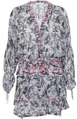 IRO Tiered Floral-Print Crepe De Chine Dress