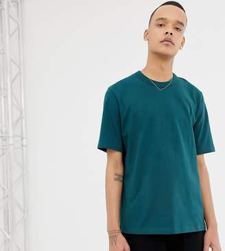 Asos Tall loose fit heavyweight t-shirt in dark green