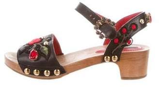 Dolce & Gabbana Embellished Ankle Strap Sandals