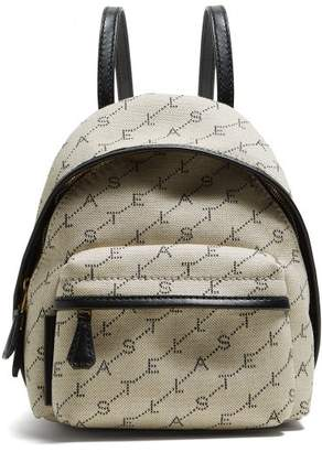 Stella McCartney Logo Print Backpack - Womens - Cream Multi
