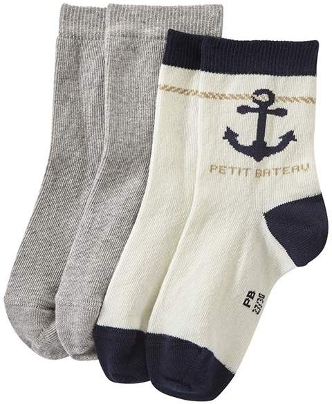Set Of 2 Pairs Of Boys Socks