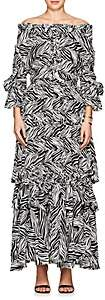 Faith Connexion WOMEN'S ZEBRA-PRINT CREPE MAXI DRESS