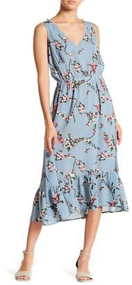 Hazel Floral Flounce Hem Dress