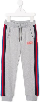 Kenzo side stripe track trousers