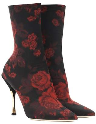 Dolce & Gabbana Cardinale jacquard ankle boots