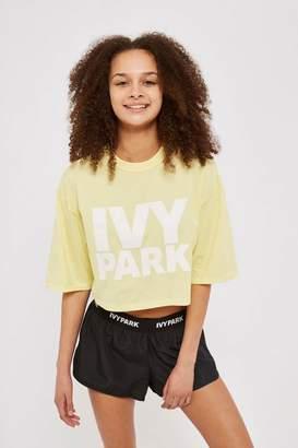 Ivy Park Crop Crew Logo T-Shirt