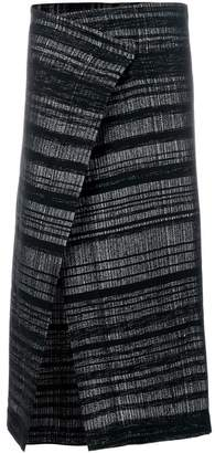 A New Cross slit wrapped skirt