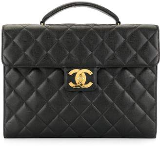 Chanel Pre-Owned quilted CC briefcase