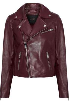 Maje Bexita Leather Biker Jacket