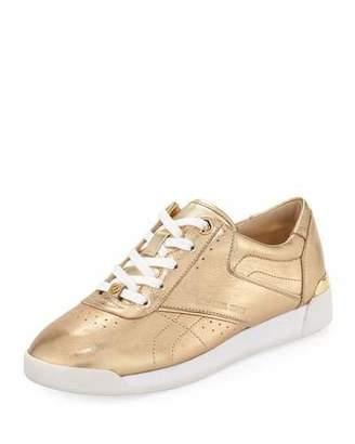 MICHAEL Michael Kors Addie Metallic Lace-Up Sneaker, Gold