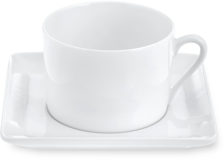 Apilco Zen Porcelain Cups & Saucers, Set of 2
