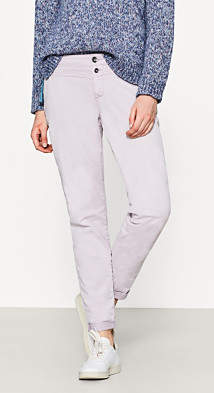 Esprit Stretch cotton chinos with a button placket