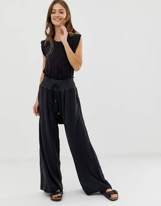 Free People Movement Mia elasticated wide leg trousers