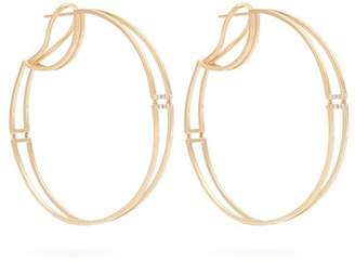 Susan Foster Diamond & Yellow Gold Hoop Earrings - Womens - Gold
