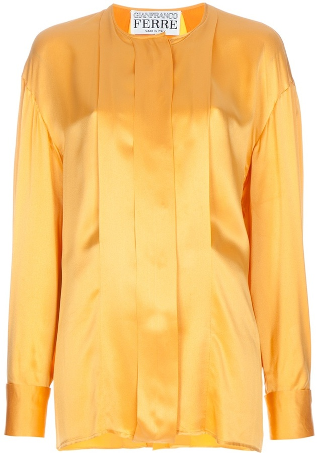 Gianfranco Ferre Vintage pleated blouse