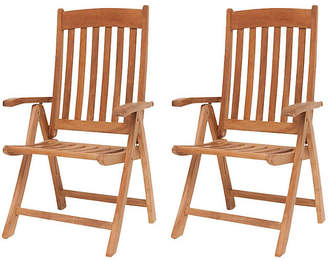 International Home Miami Belfast Teak Position Chairs - Set of 2