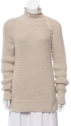 Loro Piana Rib Knit Turtleneck Sweater