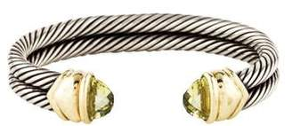 David Yurman Citrine Double Cable Cuff