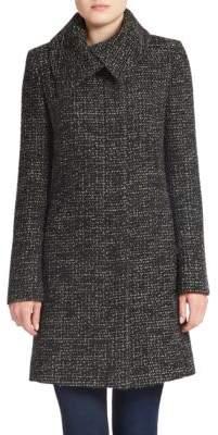 JONES NEW YORK Tweed Wool-Blend Coat $360 thestylecure.com