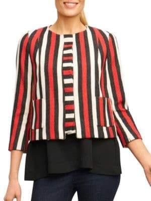Foxcroft Colorblock Roundneck Jacket
