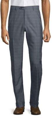 Brioni Patterned Wool Silk Trousers