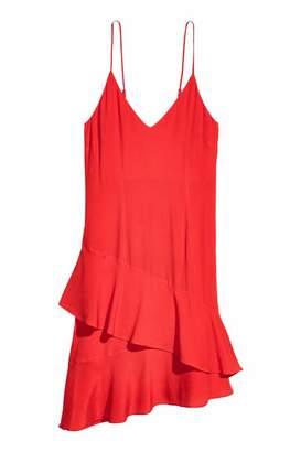 H&M Flounced CrÃaped Dress