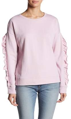 Sanctuary Raw Edge Ruffle Trim Sweatshirt