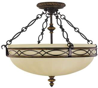 Feiss Murray SF221 Edwardian Drawing Room 3 Light Semi-Flush Ceiling Fixture