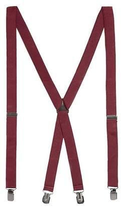 Topman Mens Red Burgundy Plain Suspenders