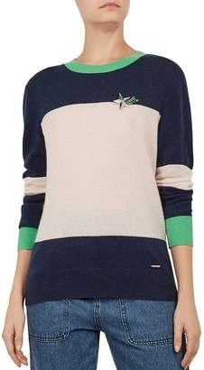 3c64c34c221 Ted Baker Colour by Numbers Bryonny Color-Block Cashmere Sweater
