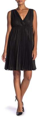 Max Studio Sleeveless Pleat Dress