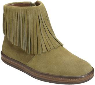 Aerosoles Leather Fringed Ankle Booties - GoodFun