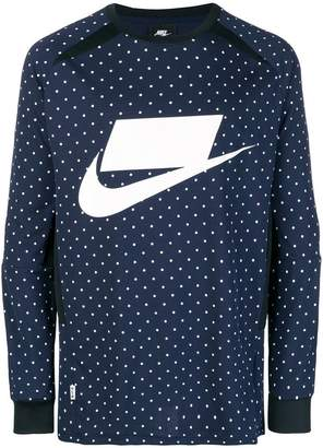 Nike polka dot print sweatshirt