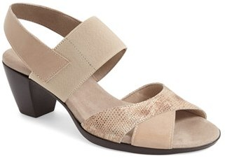 Women's Munro Darling Mixed Finish Slingback Sandal $179.95 thestylecure.com